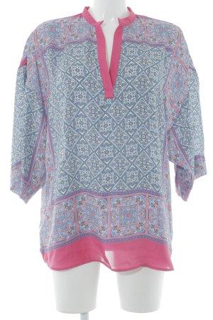 Zara Basic Tunikabluse florales Muster Boho-Look