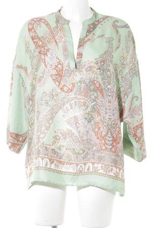 Zara Basic Tunikabluse florales Muster Casual-Look
