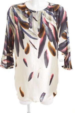 Zara Basic Tunikabluse Motivdruck Casual-Look