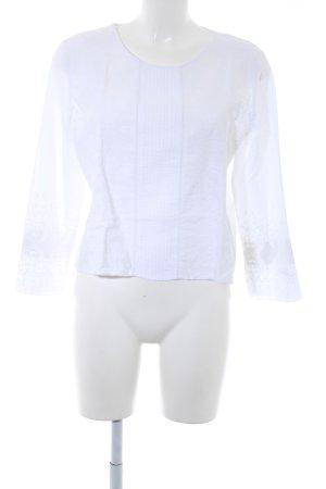 Zara Basic Tunikabluse weiß Casual-Look
