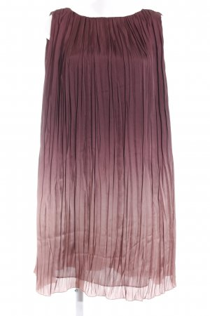 Zara Basic Tunikakleid braunrot-nude Farbverlauf Elegant