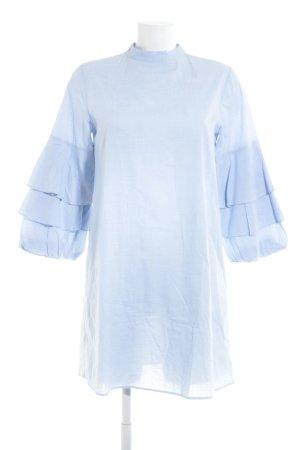 Zara Basic Tunikakleid himmelblau meliert Casual-Look