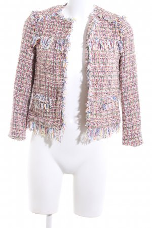 Zara Basic Tweed Blazer multicolored business style