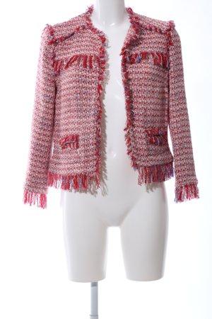 Zara Basic Tweedblazer mehrfarbig Vintage-Look