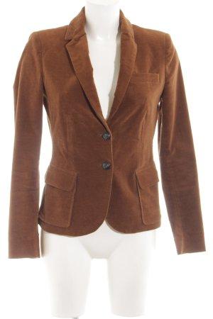 Zara Basic Tweedblazer bronzefarben-braun Business-Look