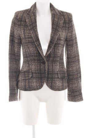 Zara Basic Tweedblazer braun-wollweiß Karomuster Business-Look