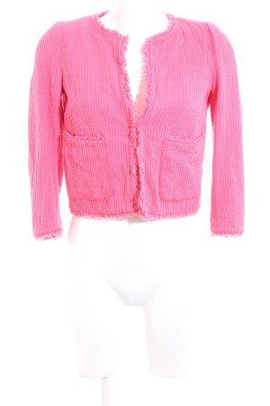 Zara Basic Tweed Blazer pink graphic pattern elegant