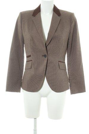 Zara Basic Tweed blazer bruin-donkerbruin pied-de-poule patroon country stijl