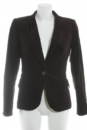 Zara Basic Tweedblazer dunkelbraun Casual-Look