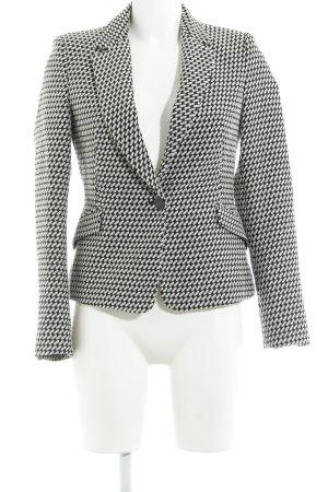 Zara Basic Tweed blazer wit-zwart casual uitstraling