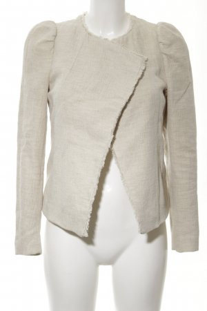 Zara Basic Tweedblazer wollweiß Casual-Look