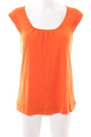 Zara Basic Boatneck Shirt light orange casual look