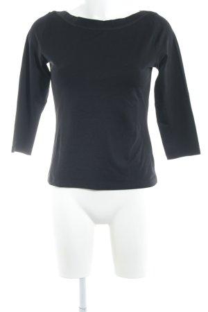 Zara Basic U-Boot-Shirt schwarz Casual-Look