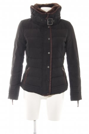 Zara Basic Übergangsjacke schwarz-braun Casual-Look