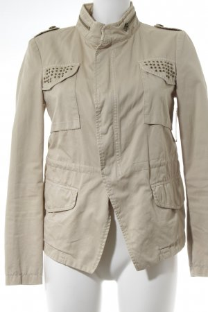Zara Basic Übergangsjacke beige Street-Fashion-Look