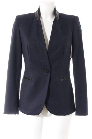 Zara Basic Between-Seasons Jacket dark blue-black elegant