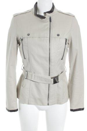 Zara Basic Overgangsjack donkerbruin-beige casual uitstraling