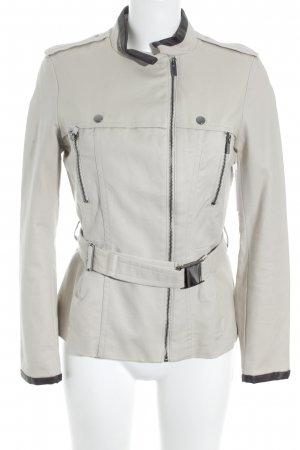 Zara Basic Übergangsjacke dunkelbraun-beige Casual-Look