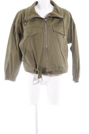 Zara Basic Übergangsjacke khaki Urban-Look