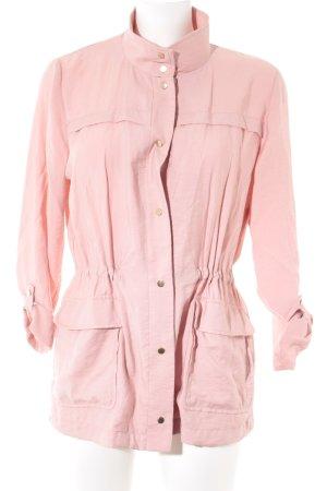 Zara Basic Übergangsjacke rosa Casual-Look
