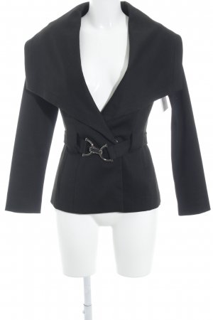Zara Basic Übergangsjacke schwarz Casual-Look