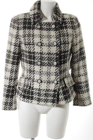 Zara Basic Übergangsjacke weiß-schwarz Hahnentrittmuster Casual-Look