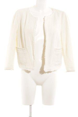 Zara Basic Übergangsjacke wollweiß schlichter Stil