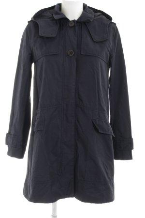 Zara Basic Übergangsmantel neonblau-schwarz Casual-Look