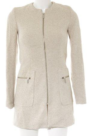 Zara Basic Übergangsmantel beige Webmuster Casual-Look