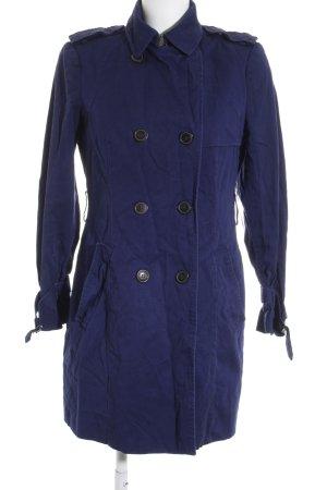 Zara Basic Übergangsmantel blau schlichter Stil