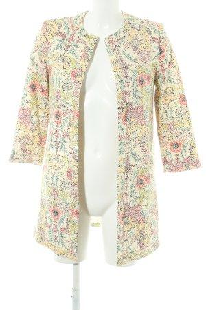 Zara Basic Übergangsmantel Blumenmuster Hippie-Look