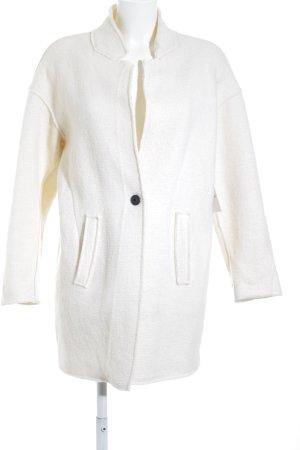 Zara Basic Übergangsmantel creme minimalistischer Stil