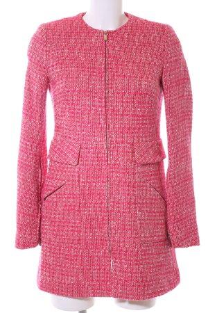 Zara Basic Übergangsmantel pink meliert Business-Look