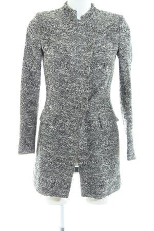 Zara Basic Übergangsmantel hellgrau-weiß meliert Casual-Look