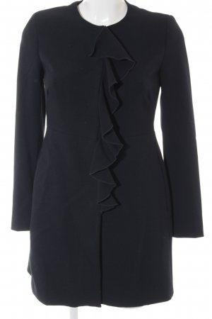 Zara Basic Between-Seasons-Coat dark blue business style