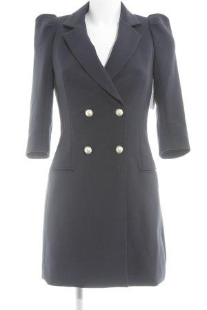 Zara Basic Übergangsmantel dunkelblau Street-Fashion-Look