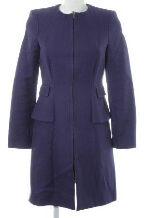 Zara Basic Abrigo de entretiempo violeta oscuro look casual
