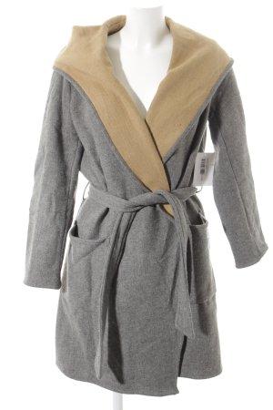 Zara Basic Übergangsmantel grau minimalistischer Stil