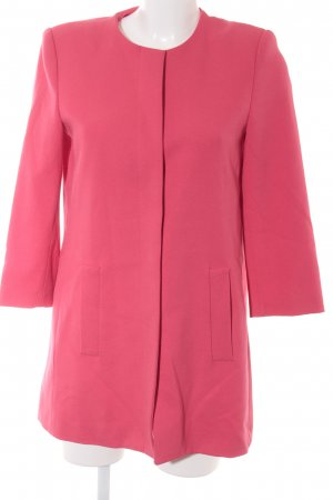 Zara Basic Between-Seasons-Coat raspberry-red business style
