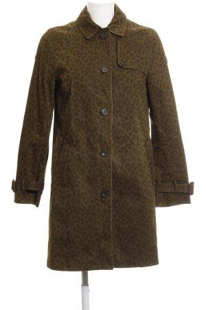 Zara Basic Übergangsmantel khaki-graubraun Leomuster Street-Fashion-Look