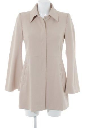 Zara Basic Abrigo de entretiempo nude elegante