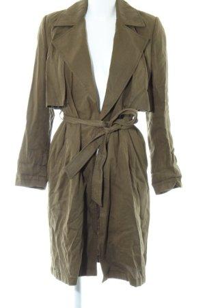 Zara Basic Übergangsmantel olivgrün Casual-Look