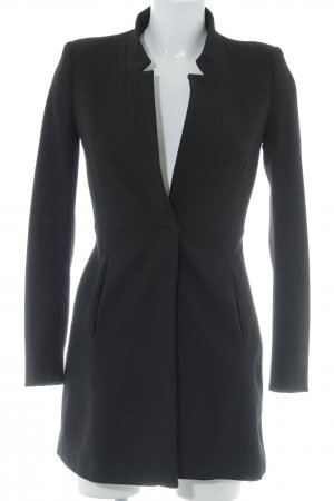 Zara Basic Between-Seasons-Coat black business style