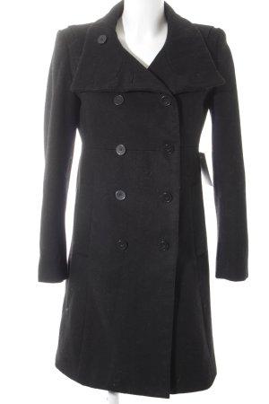 Zara Basic Übergangsmantel schwarz klassischer Stil
