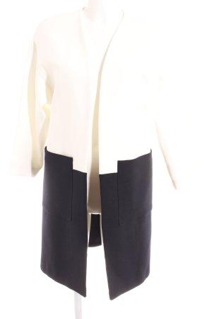 Zara Basic Übergangsmantel weiß-dunkelblau Casual-Look