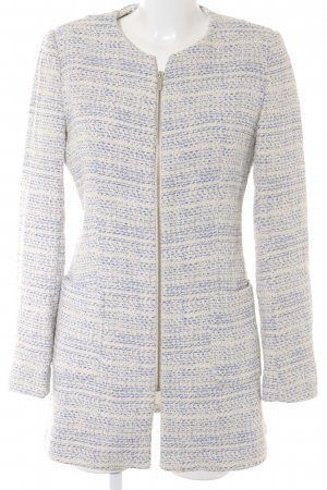 Zara Basic Between-Seasons-Coat natural white-blue flecked elegant