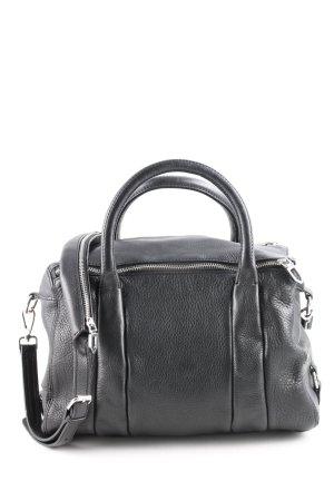 Zara Basic Borsa a spalla nero stile casual