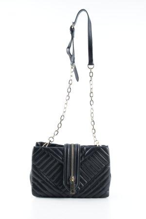 Zara Basic Umhängetasche schwarz Steppmuster schlichter Stil