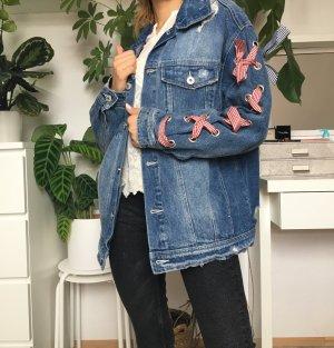Zara Basic Denim Jacket multicolored mixture fibre
