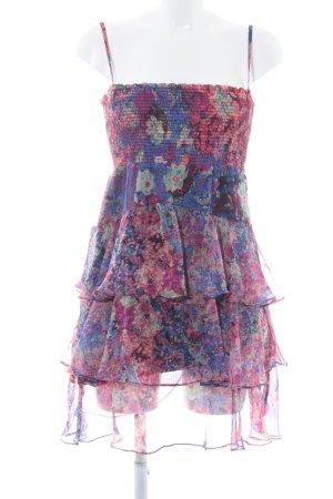 Zara Basic Vestido estilo flounce estampado con diseño abstracto Estilo playero